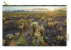 Carry-all Pouch featuring the photograph Sea Of Cholla by Margaret Pitcher