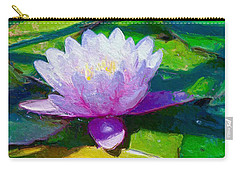 Carry-all Pouch featuring the mixed media Be Happy  by Gabriella Weninger - David