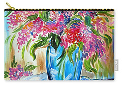 For The Love Of Flowers In A Blue Vase Carry-all Pouch