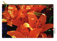 Carry-all Pouch featuring the photograph For The Love Of Lilies by Kathy Kelly