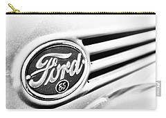 Ford 85 In Black And White Carry-all Pouch by Caitlyn Grasso