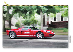 Carry-all Pouch featuring the photograph Ford Gt Entering Lake Mills by Joel Witmeyer