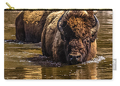 Carry-all Pouch featuring the photograph Fording The Madison River by Yeates Photography