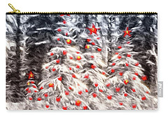 Carry-all Pouch featuring the photograph Forest Christmas by Kathy Bassett