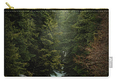 Carry-all Pouch featuring the photograph Forest Enchantment by Cat Connor