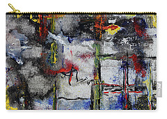 Carry-all Pouch featuring the painting Forest Fire by Karen Fleschler
