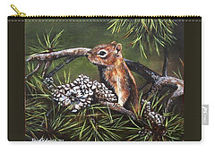 Carry-all Pouch featuring the painting Forest Friend by Kim Lockman