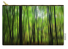 Forest Green Abstract Carry-all Pouch