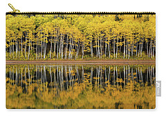 Carry-all Pouch featuring the photograph Forest Lake Reflection by Dustin LeFevre