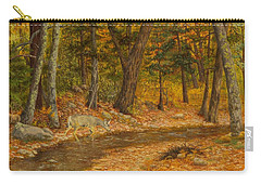 Carry-all Pouch featuring the painting Forest Life by Roena King
