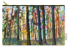 Carry-all Pouch featuring the painting Forest Light by Hailey E Herrera