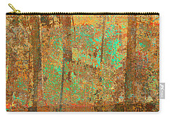 Carry-all Pouch featuring the photograph Forest Morning Light Brown by Suzanne Powers