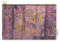 Carry-all Pouch featuring the photograph Forest Morning Light Mauve by Suzanne Powers