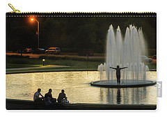 Forest Park Fountain Carry-all Pouch by Garry McMichael