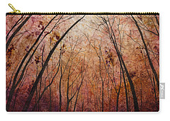 Carry-all Pouch featuring the painting Forest Path by Hailey E Herrera