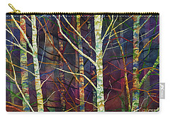 Carry-all Pouch featuring the painting Forest Rhythm by Hailey E Herrera