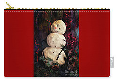Forest Snowman Carry-all Pouch by Lois Bryan