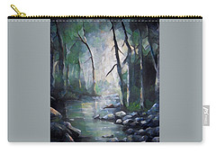 Forest Stream Digital Carry-all Pouch by Megan Walsh