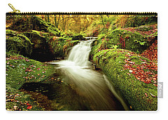 Carry-all Pouch featuring the photograph Forest Stream by Jorge Maia
