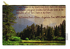 Forests In My Heart Carry-all Pouch by Timothy Bulone