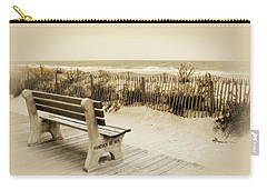 Carry-all Pouch featuring the photograph Forever At Sea - Jersey Shore by Angie Tirado