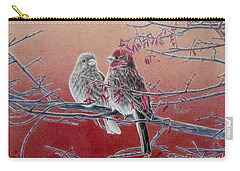 Forever Finch Carry-all Pouch by Pamela Clements