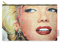 Forever Young - Marilyn Monroe Portrait Face Art Painting Carry-all Pouch
