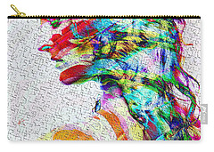 Carry-all Pouch featuring the mixed media Forget by Kiki Art