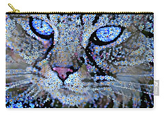 Forget Me Nots Cat - Unforgettable Carry-all Pouch