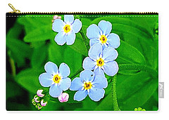 Forget Me Nots Carry-all Pouch