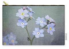 Carry-all Pouch featuring the photograph Forget Me Not by Liz Alderdice