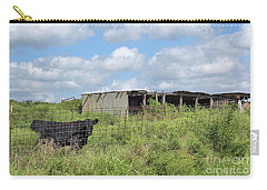 Carry-all Pouch featuring the photograph Forgotten Barn In Osage County by Janette Boyd