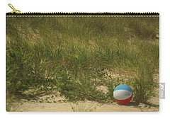 Carry-all Pouch featuring the photograph Forgotten Beach Ball by Suzanne Powers