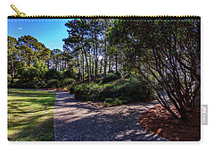 Carry-all Pouch featuring the photograph Fork In The Path by Ken Frischkorn