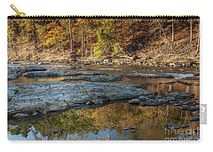 Carry-all Pouch featuring the photograph Fork River Reflection In Fall by Iris Greenwell