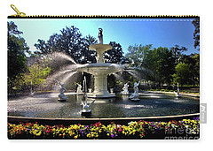 Forsyth Fountain In Spring Carry-all Pouch