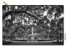 Forsyth Park Fountain 2 Savannah Georgia Art Carry-all Pouch by Reid Callaway