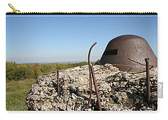 Carry-all Pouch featuring the photograph Fort De Douaumont - Verdun by Travel Pics
