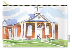 Carry-all Pouch featuring the painting Fort Hill Methodist Church by Kip DeVore