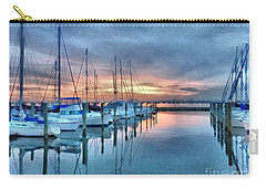 Carry-all Pouch featuring the photograph Fort Monroe Afire by Linda Mesibov