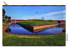 Fort Pulaski Moat - Demilune Wall 001 Carry-all Pouch by George Bostian