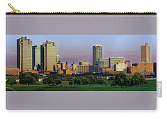 Carry-all Pouch featuring the photograph Fort Worth Colorful Sunset by Jonathan Davison