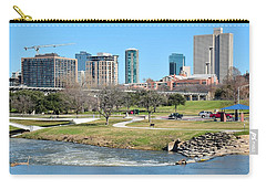 Fort Worth Trinity Park Carry-all Pouch by Frozen in Time Fine Art Photography