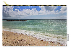 Carry-all Pouch featuring the photograph Fort Zachary Taylor Historic State Park Beach In Key West by Bob Slitzan