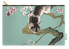 Fortune Cat In Cherry Tree Carry-all Pouch