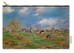 Carry-all Pouch featuring the painting Forty Acres by Judith Rhue