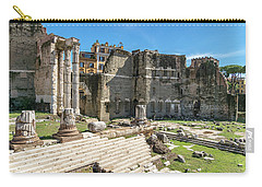 Carry-all Pouch featuring the photograph Forum Of Augustus by Scott Carruthers
