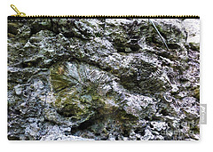 Carry-all Pouch featuring the photograph Fossil In The Wall by Francesca Mackenney