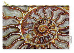 Fossilized Ammonite Spiral Carry-all Pouch