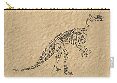 Fossils Of A Dinosaur Carry-all Pouch by Anton Kalinichev
